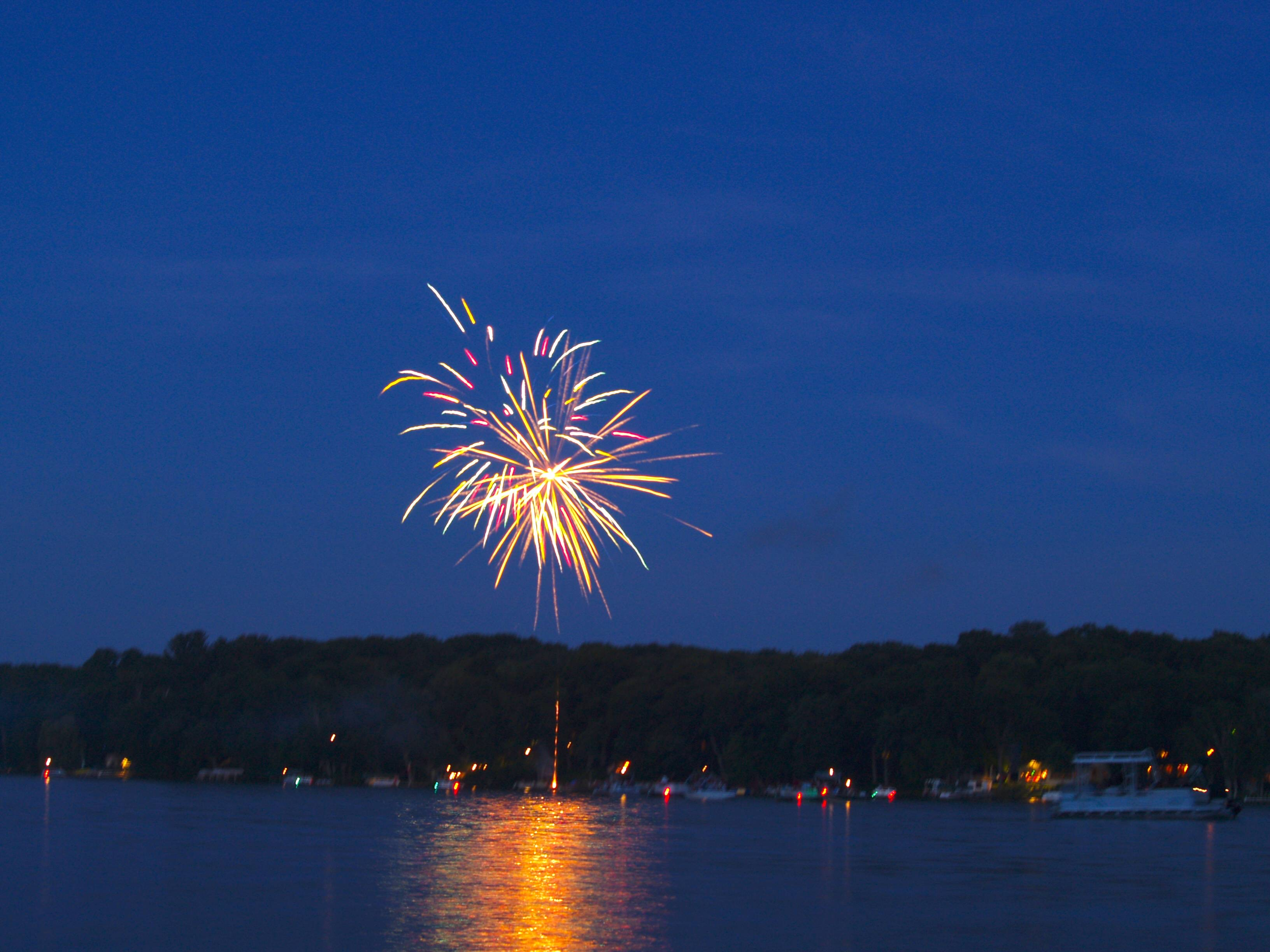 Deer Lake WI Fireworks